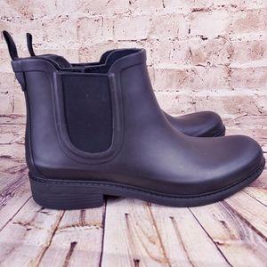 Madewell Sz 9 Black Rubber Rain Boots The Chelsea